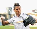 C.Ronaldo tập chơi bóng chày