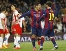 """Những khoảnh khắc đẹp ngày cặp đôi Messi-Suarez """"hủy diệt"""" Almeria"""