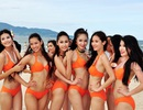 Thí sinh Hoa hậu Việt Nam cháy bỏng với phần trình diễn bikini
