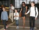 Gia đình Beckham sành điệu tại sân bay