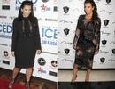 """Mang bầu, Kim """"siêu vòng ba"""" vẫn diện váy bó, đi giày cao gót"""