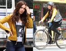 Megan Fox đạp xe vẫn gợi cảm
