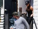 Vợ chồng Beckham sành điệu đi tập thể dục