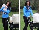 Con gái tỷ phú F1 vui vẻ đưa con ra công viên