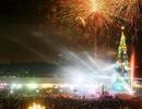 Bình Dương thắp sáng cây thông Noel và chào đón năm mới