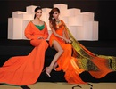 Thùy Dung, Hoàng Yến đọ váy cam rực rỡ