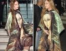 """Lạ mắt với váy in hình """"nàng Mona Lisa"""" của Lady Gaga"""
