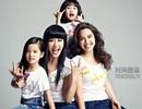 """""""Biểu tượng gợi cảm"""" Chung Lệ Đệ xinh đẹp bên ba con gái"""