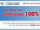 Học tiếng Anh cùng A.C.E  Nhận tài trợ 100% lệ phí thi IELTS
