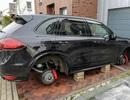 Thêm Porsche tại Đức bị ăn cắp bánh xe