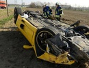 Lật xe Ferrari F355 ở Đức