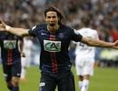 Cavani tỏa sáng, PSG kết thúc mùa giải với cú ăn ba