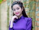 """Ngắm """"cô gái đẹp nhất Tuyên Quang"""" diện áo dài tím thơ mộng"""