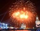 Pháo hoa rực sáng trời Mátxcơva trong lễ kỷ niệm Ngày chiến thắng