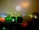 Đêm giao thừa, Hà Nội bắn pháo hoa nghệ thuật ở bãi giữa sông Hồng