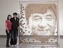 """""""Vẽ"""" chân dung diễn viên Thành Long từ 64.000 chiếc đũa"""