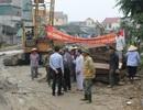Dân cản trở thi công công trình để đòi đền bù lún, nứt nhà