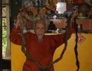 Ngỡ ngàng búi tóc dài 4m, nặng 2kg của cụ ông 85 tuổi