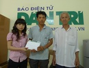 Hơn 18 triệu đồng đến với gia đình anh Phước Bảo