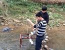 Học trò vùng cao sáng chế máy đưa nước lên cao không cần điện