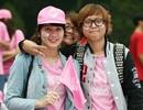 """Fan SNSD đạp xe """"nhuộm hồng"""" đường phố Hà Nội"""