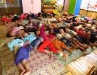 Chùm ảnh: Xót xa bữa ăn, giấc ngủ của trẻ mầm non Phình Sáng