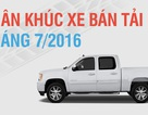 Tiêu thụ xe bán tải giảm mạnh vì thuế