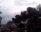 Cửa hàng phụ tùng xe máy bốc cháy ngùn ngụt suốt gần 3 tiếng