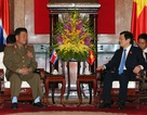 Chủ tịch nước Trương Tấn Sang tiếp Bộ trưởng Bộ Các lực lượng vũ trang nhân dân Triều Tiên