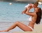 Kinh ngạc với dáng thon của người đẹp Anh sau 3 tháng sinh nở