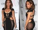 Jennifer Lopez lại gây sốc với trang phục trong suốt không nội y