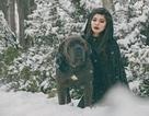 """Cuốn hút bộ ảnh """"ma sói trên núi tuyết"""" của nữ DHS Việt"""