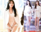 Ca sỹ xứ Hàn khổ sở che chắn vì váy quá ngắn
