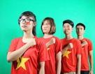 """Clip 200 bạn trẻ diện """"cờ đỏ sao vàng"""" bày tỏ tình yêu Tổ quốc"""