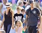 Hình ảnh hạnh phúc của gia đình Beckham