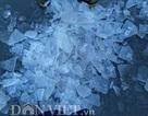 Đỉnh Phan Xi Păng xuất hiện băng dày như tấm kính