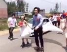Cộng đồng mạng trầm trồ đám cưới patin siêu lãng mạn