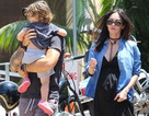 """""""Mỹ nhân gợi tình"""" Megan Fox hạnh phúc bên chồng con"""