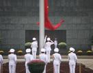 Lễ thượng cờ trên quảng trường Ba Đình trong buổi sáng 30-4