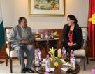 Chủ tịch Quốc hội Nguyễn Thị Kim Ngân tiếp Tổng Bí thư Đảng Cộng sản Ấn Độ