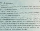 """""""Kì thi không phải là hình phạt dành cho học sinh"""""""