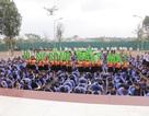 1000 bạn trẻ xếp chữ kêu gọi bảo vệ môi trường