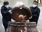 Trung Quốc: Dát vàng xác ướp đại hòa thượng đắc đạo