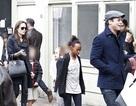 Gia đình Jolie Pitt sành điệu trên phố