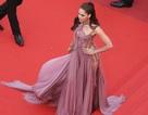 Người đẹp Thái Lan gây sốt tại Cannes với váy tím trong suốt