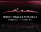 Mercedes-Maybach S650 Cabriolet chuẩn bị ra mắt