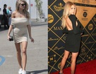 Người đẹp Mỹ đẹp như mộng với váy màu nude