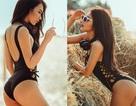 Hot girl Nga Tây khoe thân hình bốc lửa trên bãi biển