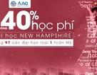 Học bổng 40% học phí đại học New Hampshire – hạng 97 các đại học loại 1 toàn Mỹ