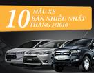 Top 10 xe bán chạy nhất tháng 5/2016